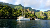 At anchor in Fatu Hiva